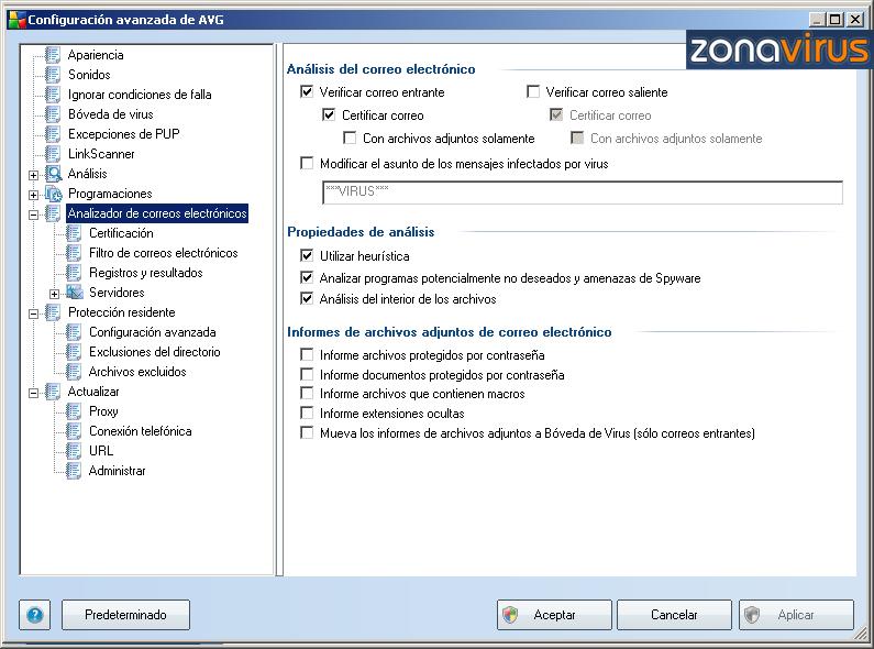 Configuracion Avanzada - Correo Electronico